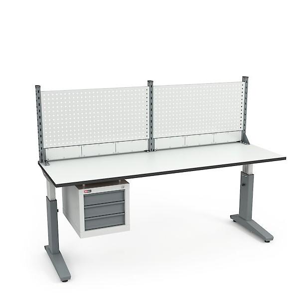 Стол монтажный ДиКом СР-200-02 ESD + Экран ВС-200-Э1 ESD