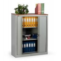 Шкаф офисный ДиКом КД-142 (2 полки) с дверьми-жалюзи