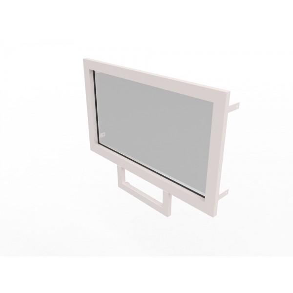 Конструкция оконная со стеклом 1260х700мм Бр1 кл.пулестойкости