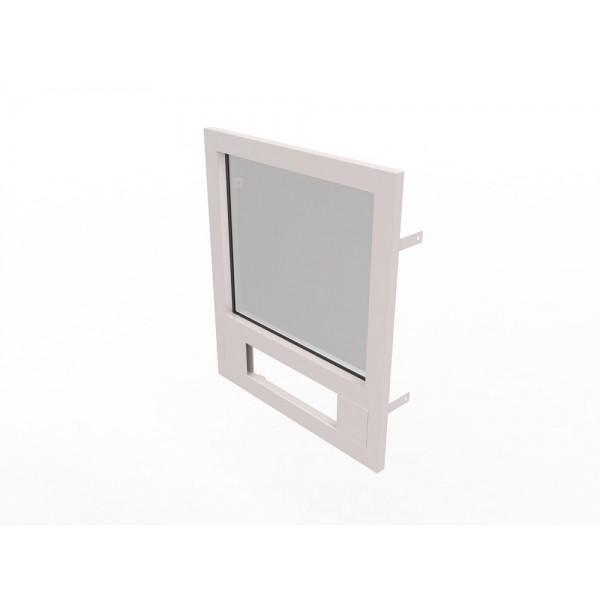 Конструкция оконная со стеклом 800х700мм Бр1 кл.пулестойкости