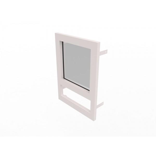 Конструкция оконная со стеклом 500х500мм Бр3 кл.пулестойкости