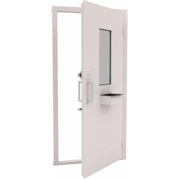 Конструкция дверная со стеклом 300х700 и лотком щел. пл. 1 кл.
