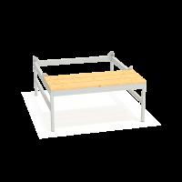Подставка под шкаф со скамьей